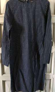 Uniqlo Stripped Long Sleeved Dress