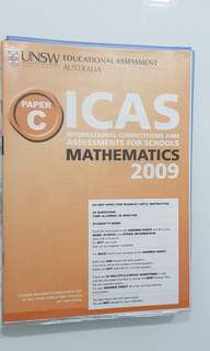 ICAS 2009 Primary 4 English, Chinese, Math
