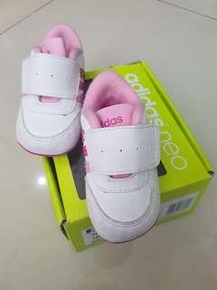 prewelker sepatu adidas neo baby bayi pink
