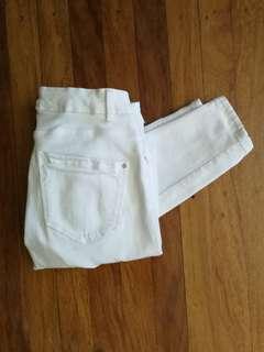 White Skinny Fit Zara Jeans