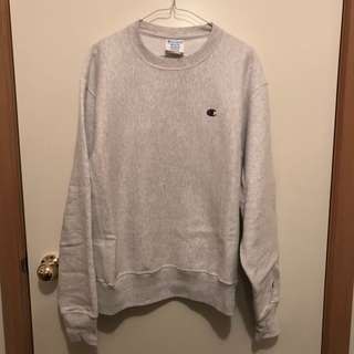 New Mens Medium Grey Champion Thick Sweatshirt Jumper