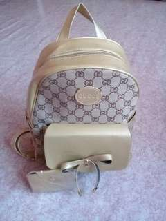 Gucci inspired back pack with card holder