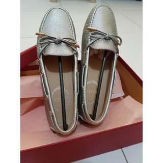 Scilla Moccasin in Platinum size 37 Original