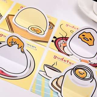 6+4pcs Gudetama sticky notes set