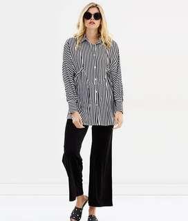 Hello Parry Else Oversized Stripe Shirt