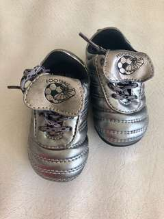 Zara Gunmetal Football-inspired Baby Shoes