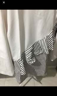 White blouse with stripe
