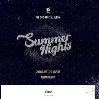 TWICE 2nd Special Album Summer Nights Dance The Night Away (Ver A / B / C)