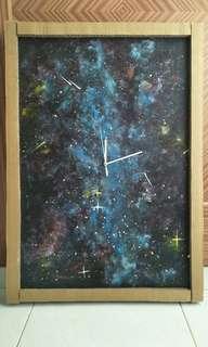 Acrylic Painting Special Galaxy Wall Clock