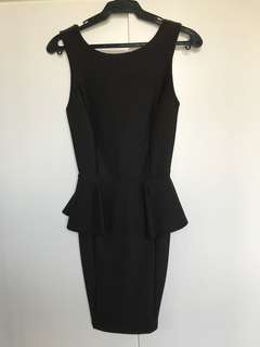 Topshop Black Peplum Dress