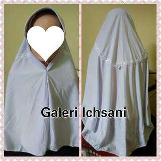 Jilbab Sekolah Kaos Syari Putih