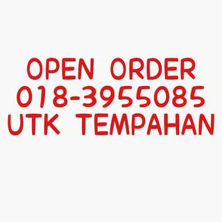Open order utk set bby
