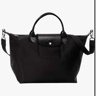 Authentic Longchamp Le Pliage Neo (Medium, Black)