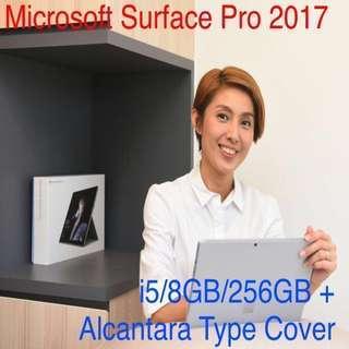 Surface Pro 5, i5/8GB/256GB bundle with Alcantara Cover