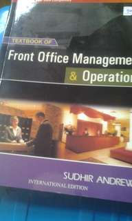 Front Office Management & Operations 2008 Ed by Sudhir Andrews
