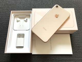 iPhone 8 64gb Factory Unlocked Gold Complete 100% Smooth