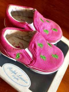 Polo Ralph Lauren Pink Canvas Baby Shoes