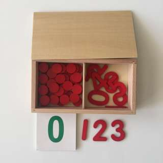 Montessori Mathematics Cut-Out Numerals, Counters And Printed Numerals Cards