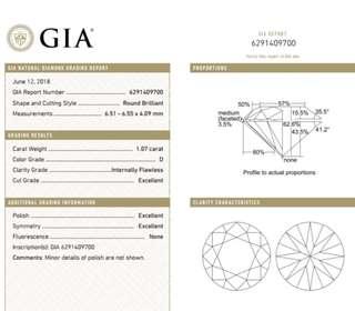 GIA 鑽石 1.07 D IF 3EX N
