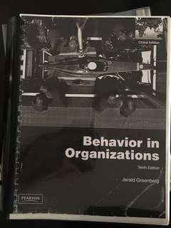 PSY333 Behaviour in Organizations 10th Edition