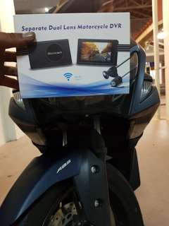 Front and back camera motorcycle (full hd with wifi
