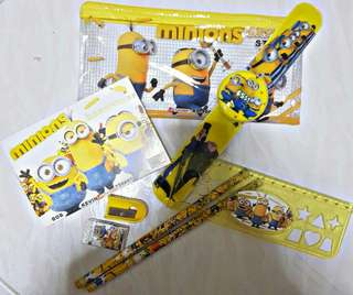 Minion bundle ( stationery + watch ) goodie birthday gift