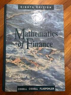 Actuarial science - Mathematics of Finance