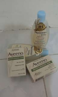💯% authentic aveeno (wash & shampoo)