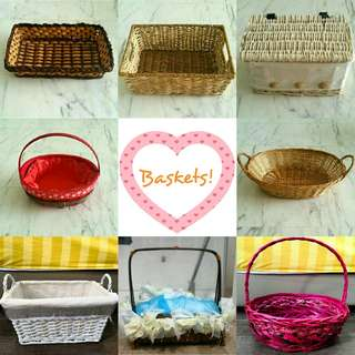 Assorted Rattan Baskets!