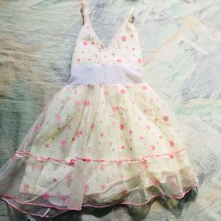 Pink and White Polka Dots Gown 🌸👧🏻