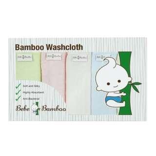 Bebe Bamboo 100% Bamboo Washcloths (Set of 5)