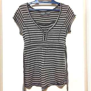 Zara TRF Striped Blouse
