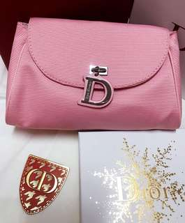 Dior baby pink pouch
