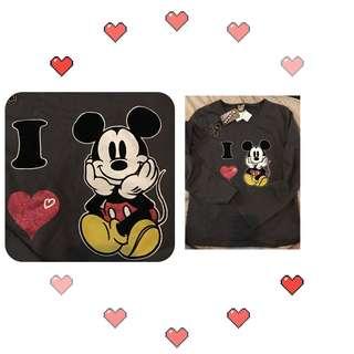 店主日本🇯🇵入貨只有一件米奇老鼠長袖T恤😍