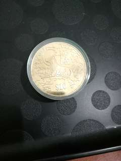 Singapore limited edition dog collectible coin