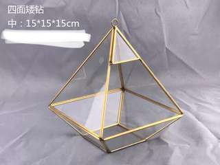 Terrarium Pyramid Glass Box