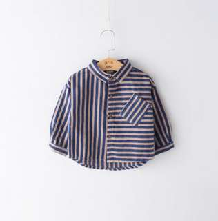 2018 new boy shirt long-sleeved cotton