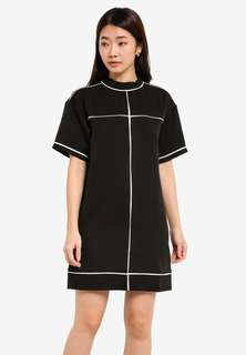 [New] Zalora Dress black high collar