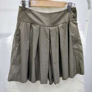 Uniqlo Brown Green Pleated Skirt Pants