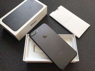 iPhone 7 Plus 128gb Factory Unlocked 100% Smooth Complete Matte Black