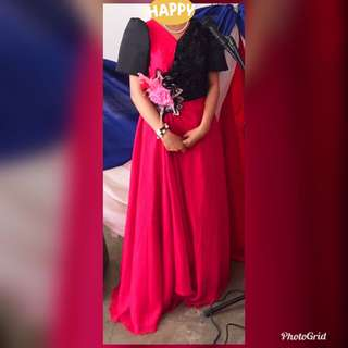 Filipiniana dress fit for teen and adult sizes.. color fuschia pink..