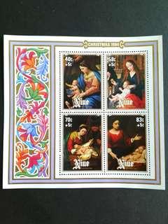 1984 Niue-Christmas mini sheets