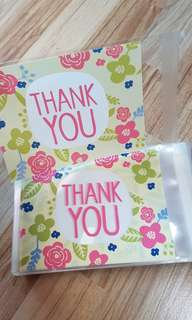 NEW 10cm x 13cm 'Thank You' Multipurpose Cookie or Candy Plastic Pouch 25pcs
