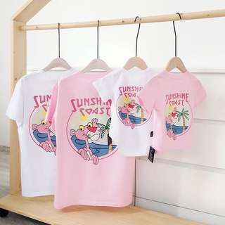Family Matching Outfit Tee/Rompers - Pink Panther