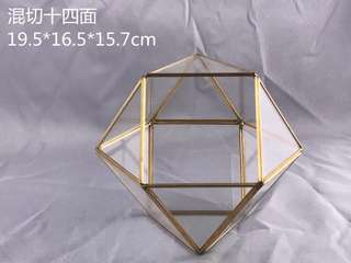 Terrarium 14-Sided Glass Box