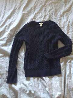 Price drop Navy knit sweater