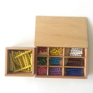 Montessori Mathematics 1-9 Beads Box & 10 Beads Box