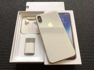 iPhone X 256gb Silver Factory Unlocked Like New Complete