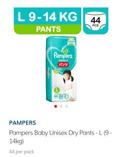 "Pampers unisex dry pants ""L"""