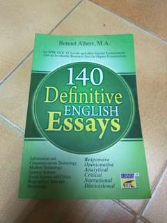 140 Definitive English Essays